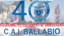 40esimo CAI Ballabio logo