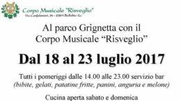 Corpo Musicale parco Grignetta 2017