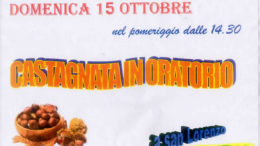 Castagnata oratorio San Lorenzo 15 ottobre