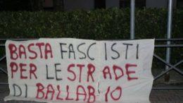 STRISCIONE BASTA FASCI BALLABIO