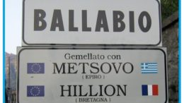 gemellaggi ballabio CARTELLO STRADALE