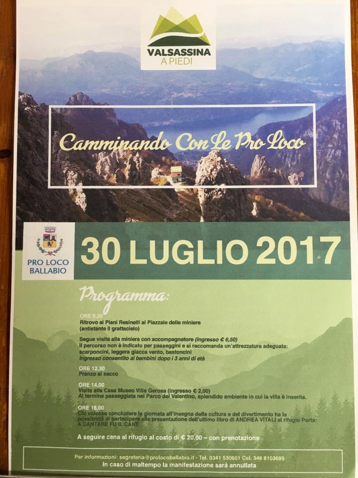 Camminando con le Pro Loco 30 luglio 2017