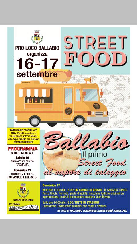 Primo strret food festival Ballabio