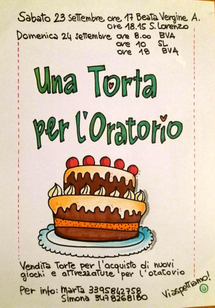 Una torta per i giochi dell'oratorio
