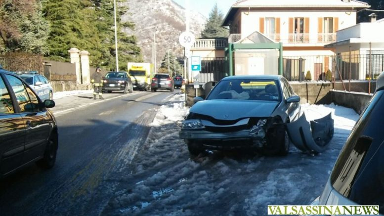 incidente ballabio via cinturino provinciale neve