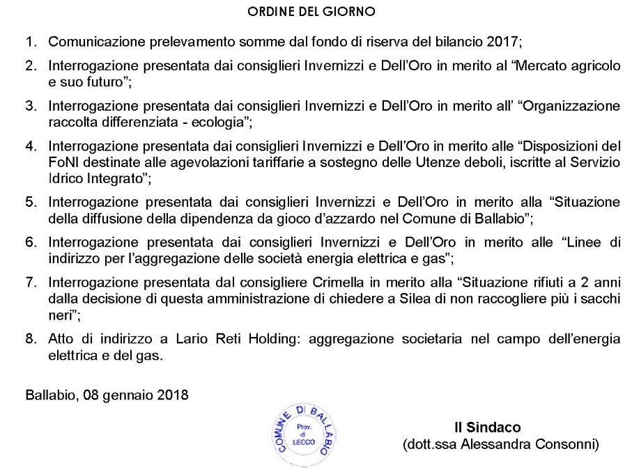 ODG CONSIGLIO GEN 18