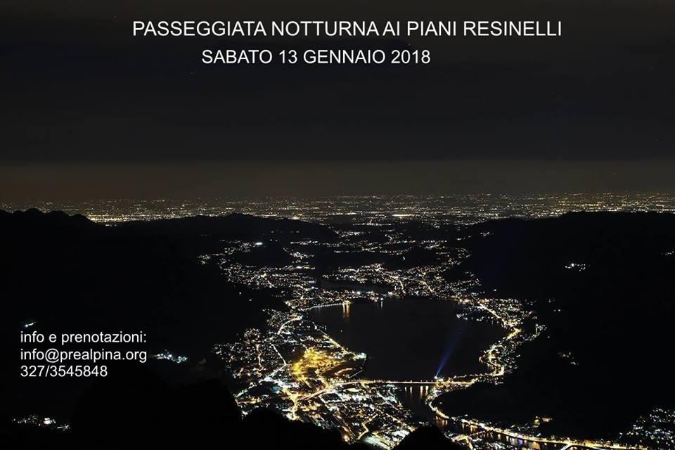 Passeggiata notturna Piani dei Resinelli 2918
