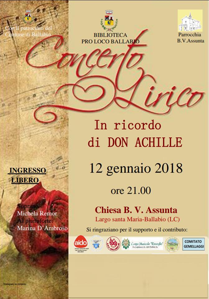 Volantino concerto don Achille m