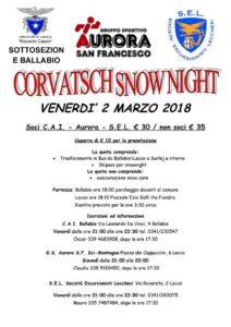 Sciata notturna al Corvatsch venerdi 2 Marzo