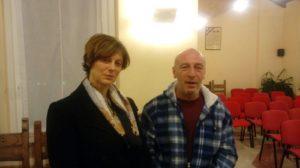 Il sindaco Consonni con Oscar Galbani (nipote di Pino)