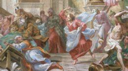 Gesù caccia i venditori dal tempio