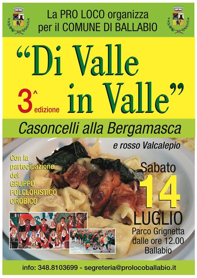Volantino Di Valle in Valle 3a edizione