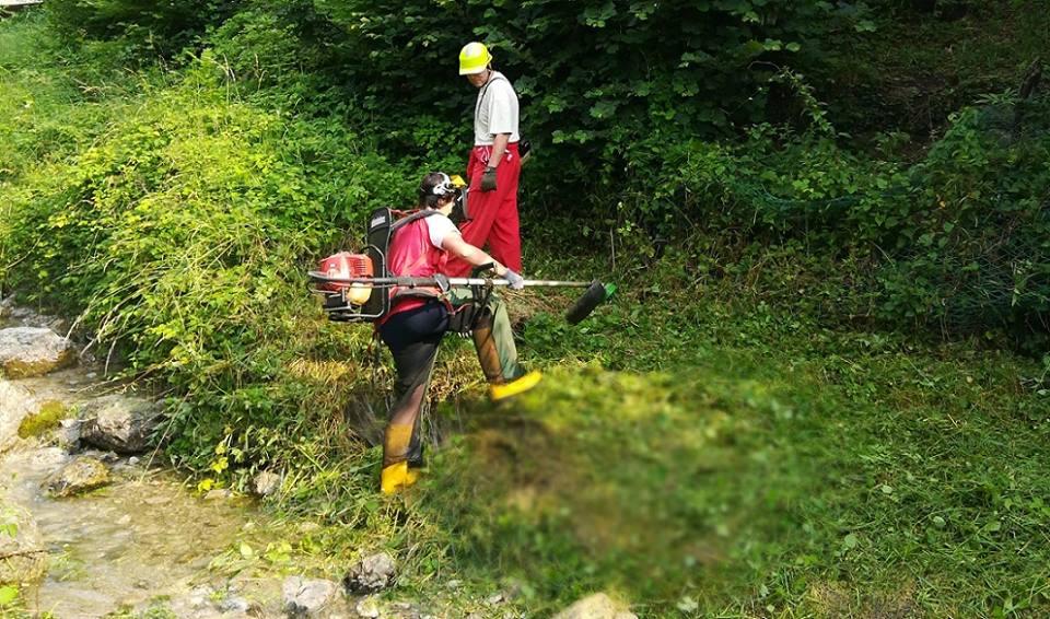 pulizia torrente grigna - ballabio (1)