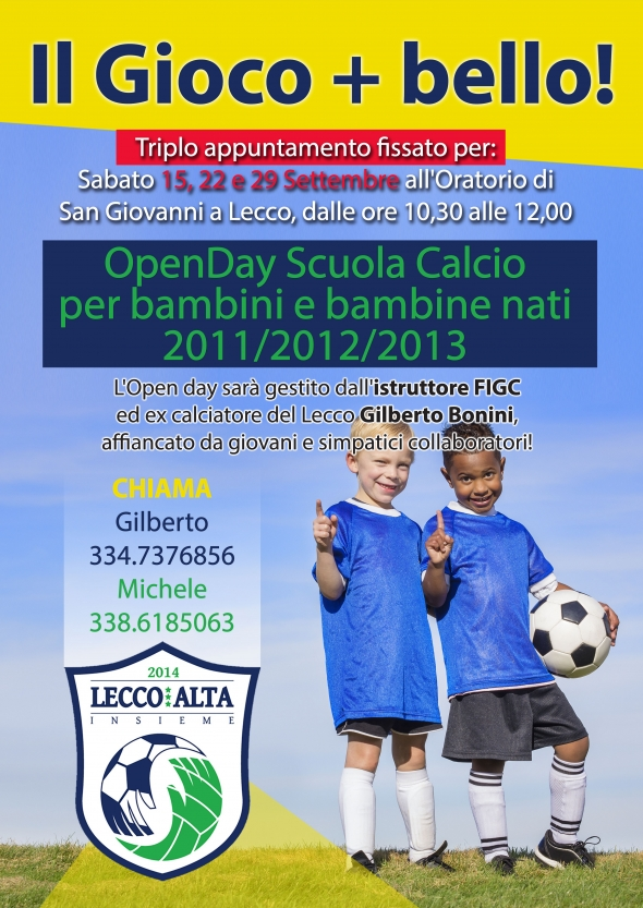 Volantino open day LeccoAlta 2018