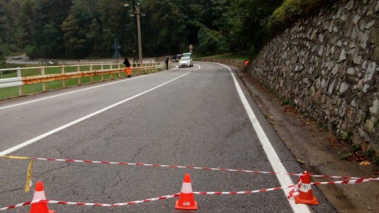 chiusura strada sp62 incidente curva angurie