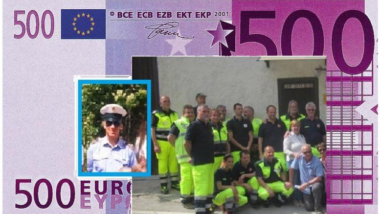 500 EURO MARCO COMBI E PROTEZIONE CIVILE PC BALLABIO