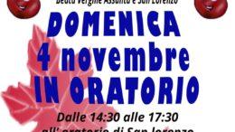 Volantino domenica 4 novembre 2018 oratorio Ballabio