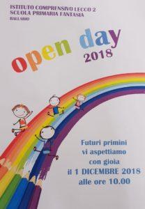 Volentino open day primaria Fantasia Ballabio