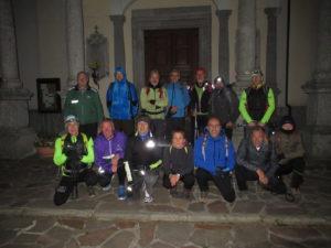 telethon il gruppo delle 6.30 da Monte a Morterone