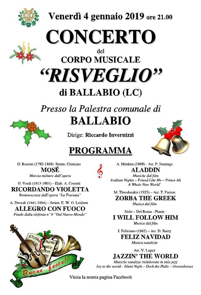 Concerto Capodanno Banda Risveglio 2019