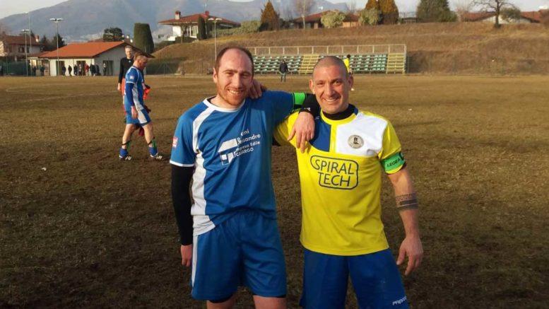 I due capitani delle squadre del Casargo Valerio Baruffaldi e del Ballabio Oscar Invernizzi.