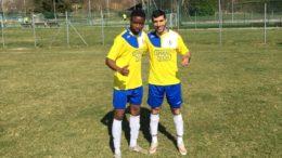 I calciatori del GSO Ballabio Hamnza e Nour