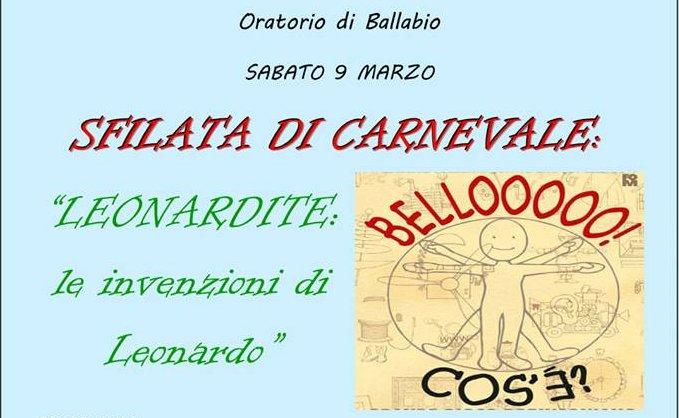 Sfilata di Carnevale Ballabio 2019 logo