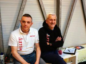 Il D.G. Matteo Amati e il Coach Costantino Casali Volley U14 ASC Ballabio