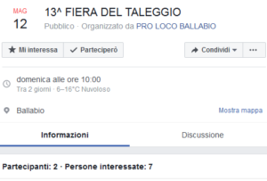 L'evento su Facebook
