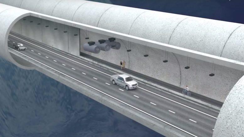 ponte di archimede progetto e39 sommerso galleggiante norvegia motori