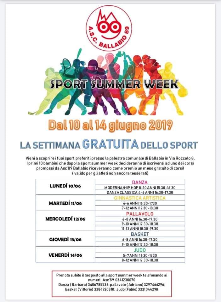 Sport ASC tutti 2019-2010