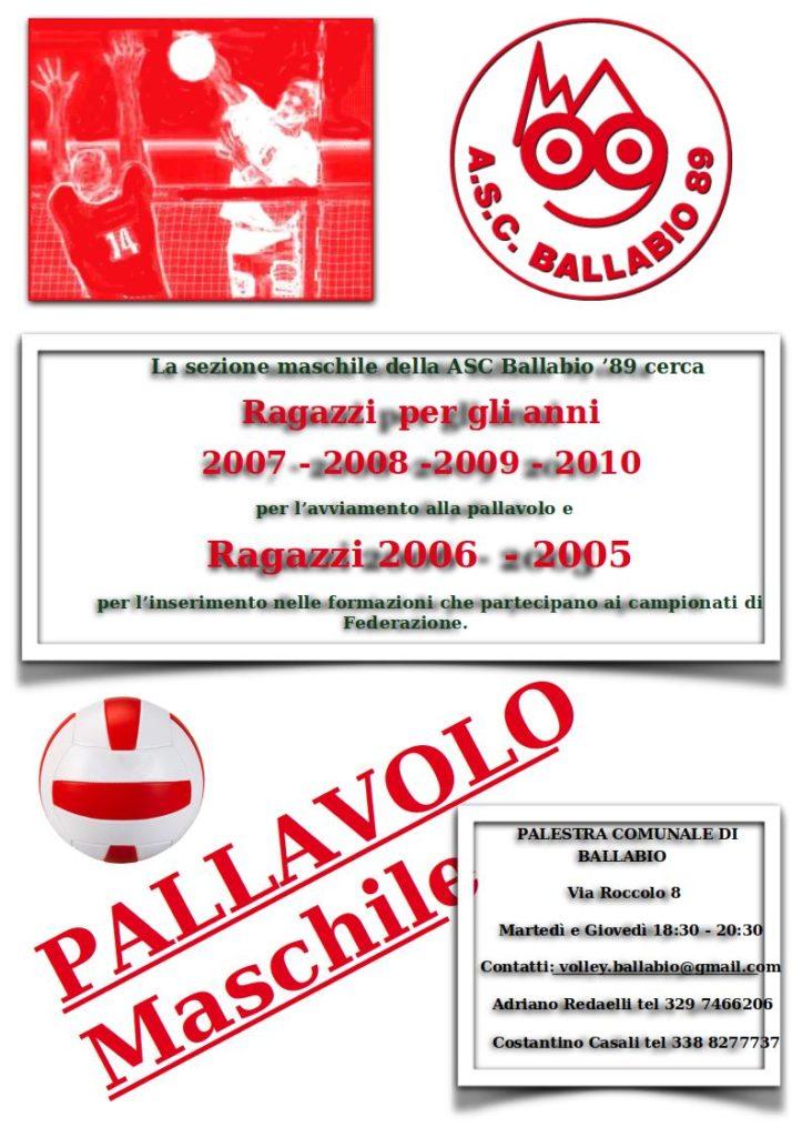 Volantino Maschi