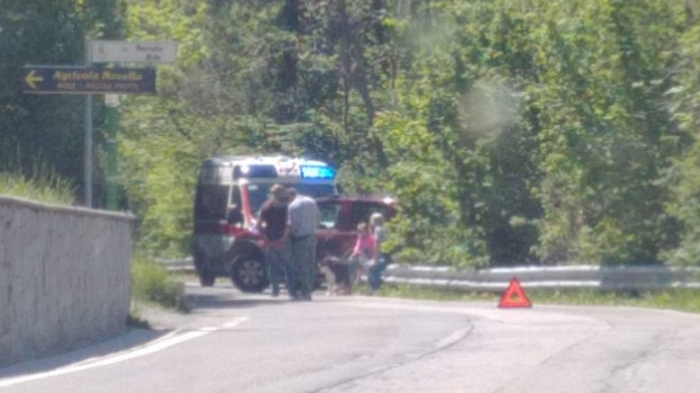 incidente auto-ciclista resinelli 2giu19 1