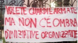 GUARDIE ARMATE STRISCIONE MUNICIPIO BALLABIO