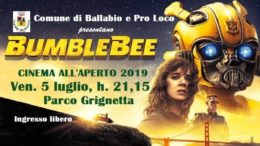 SECONDO CINEMA ALL' APERO ESTATE 2019 BALLABIO