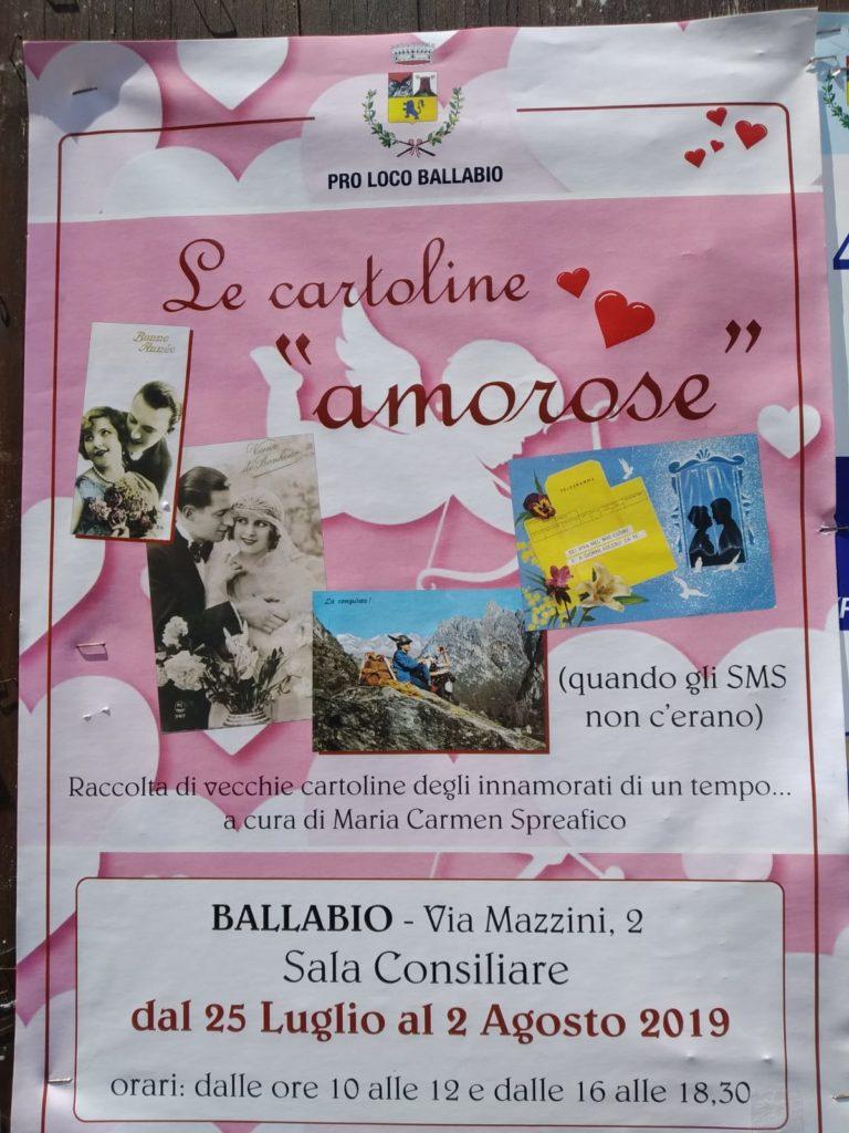 Volantino Cartoline amorose 2019 Ballabio