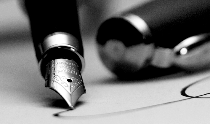 penna stilografica LETTERA