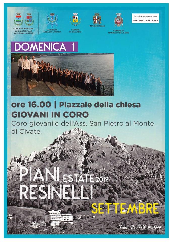 1 settembre Piani Resinelli concerto