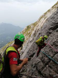 soccorso alpino Grignetta verticale