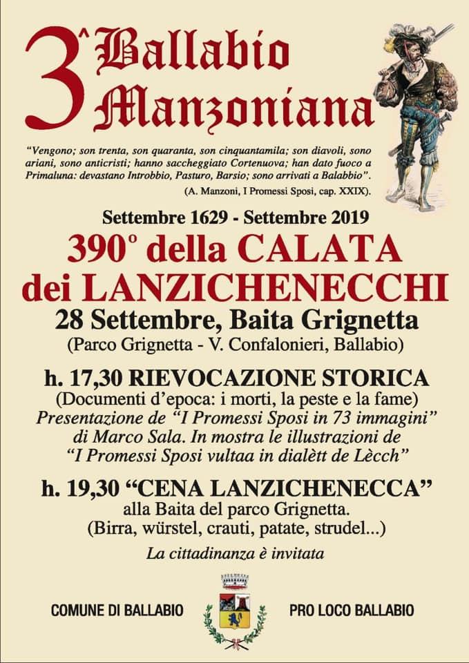 Volantino 2 Ballabio Manzoniana 2019