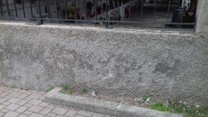 cimitero danni muro