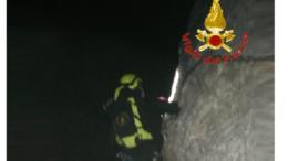 vigili del fuoco intervento grignetta notte