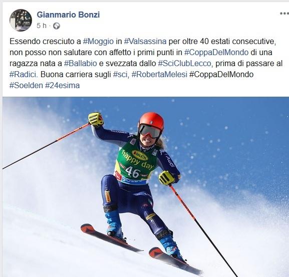 BONZI POST SU ROBERTA MELESI