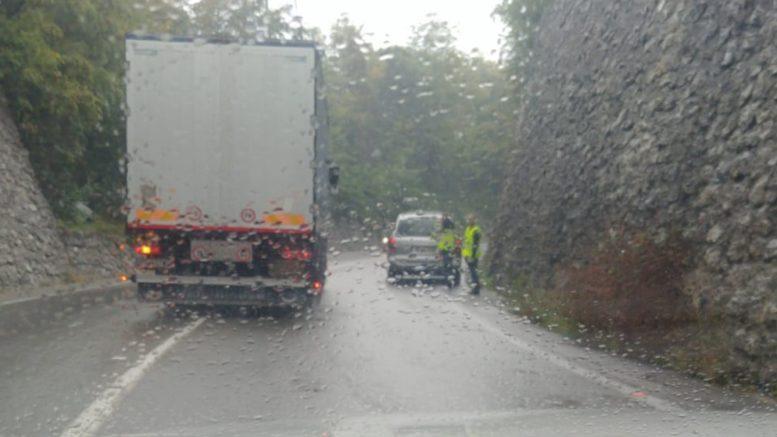 Lecco-Ballabio auto in panne pioggia