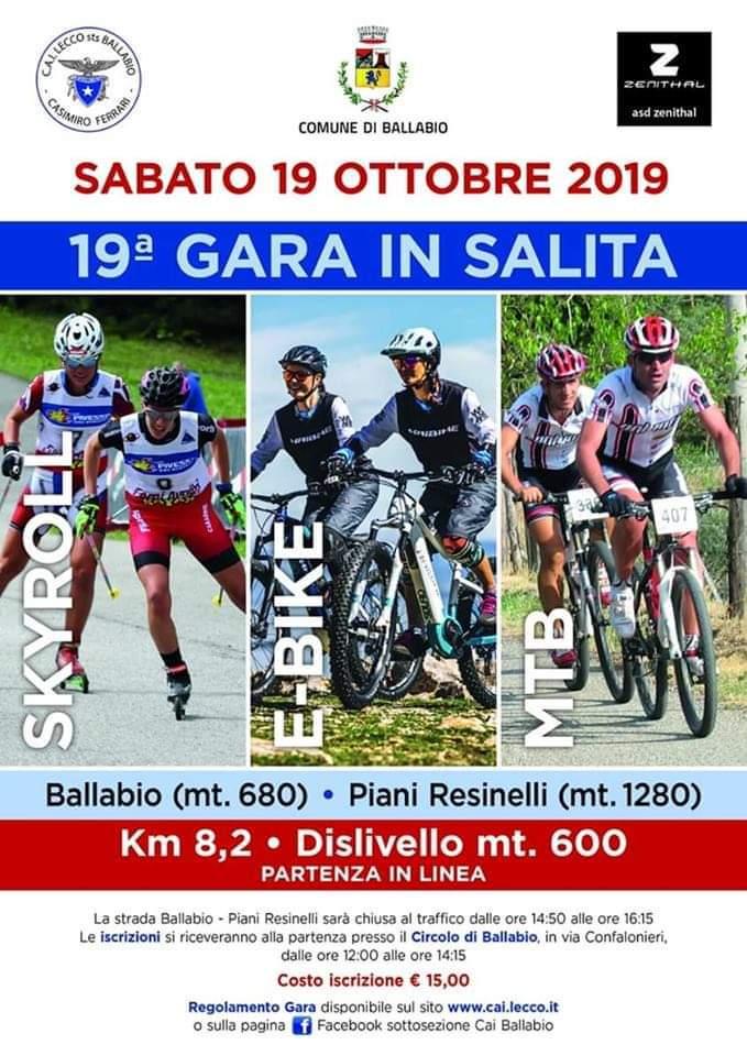 Volantino CAI Ballabio - Resinelli 2019