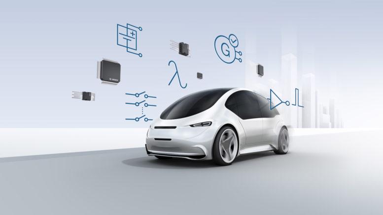auto elettrica connessa elettronica sensori