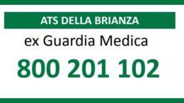 Ats Brianza numero verde Guardia Medica COP