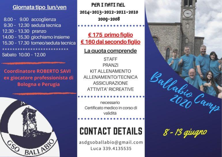 Volantino Ballabio Camp 2020