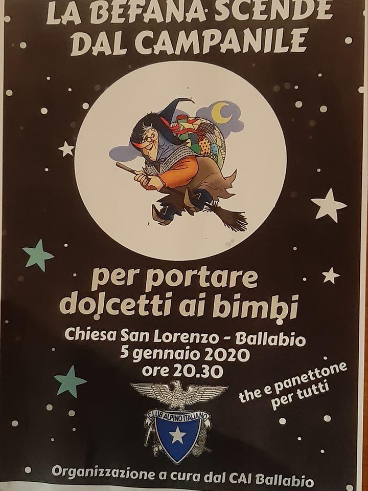 Volantino Befana Campanile San Lorenzo Ballabio 2020