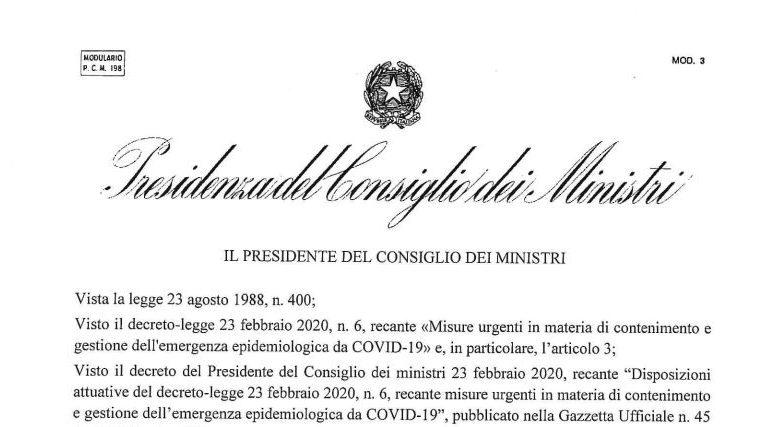 Decreto DPCM_8marzo2020_Coronavirus zona rossa lombardia